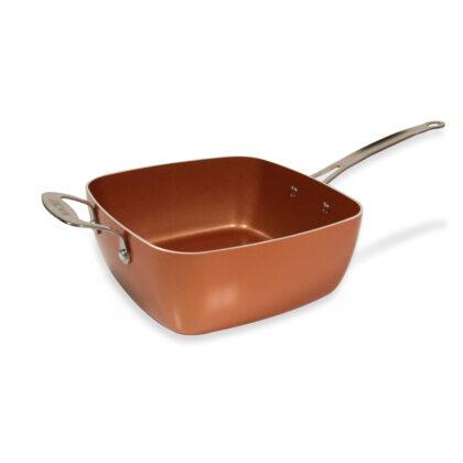 Macht 4 u 1 tiganj / pekač / friteza / steamer 24x24 - Copper pan TITAN CHEF