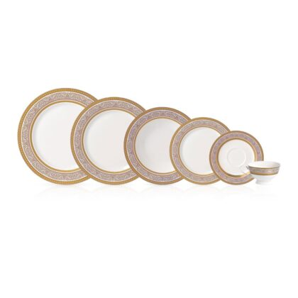 Royal Elisabeth WHITE GOLD collection porcelanski set za ručavanje za 6 osoba