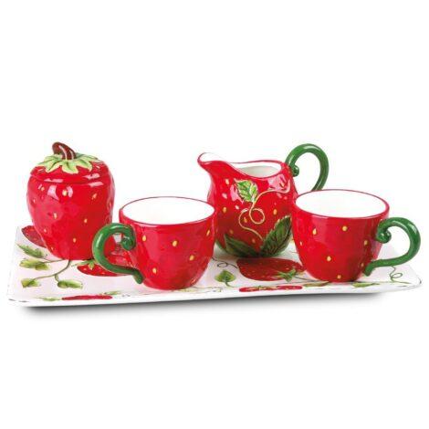 Royal Elisabeth keramički dekorativni set za kafu - Strawberry