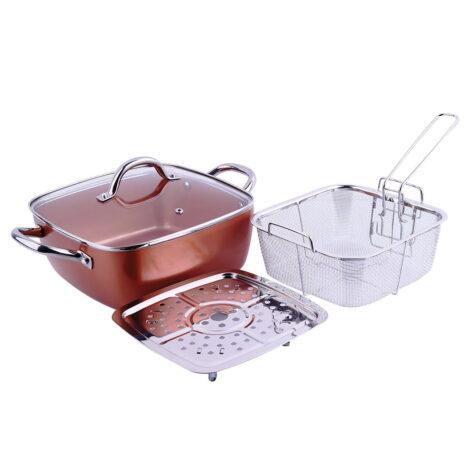 Macht 4 u 1 tiganj / pekač / friteza / steamer 24x24 - Copper pan TITAN CHEF 01